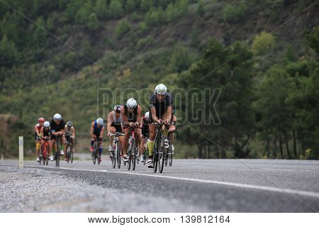 IronMan 70.3 Turkey 2015, Asphalt Bike Stage