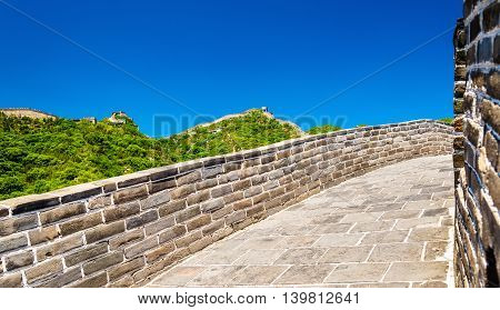 Details of the Great Wall of China at Badaling