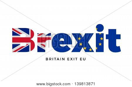 BREXIT - Britain exit from European Union on Referendum. Vector Isolated