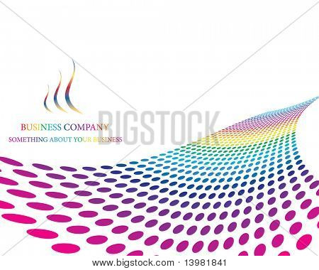 Abstract colourful business background for design use poster