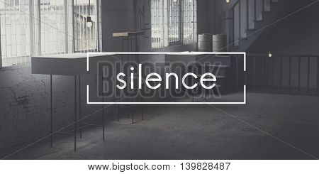 Silence Tranquil Envision Mindfulness Peace Quiet Concept
