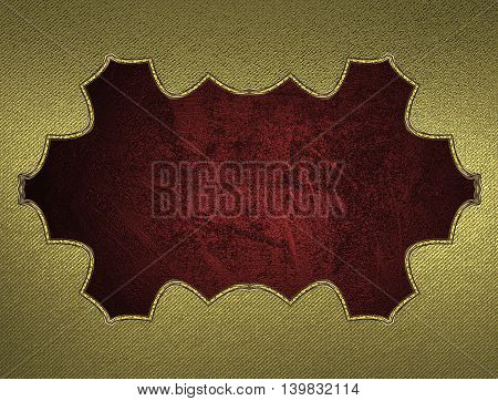 Yellow Background With A Red Sign For Text. Template For Design. Copy Space For Ad Brochure Or Annou