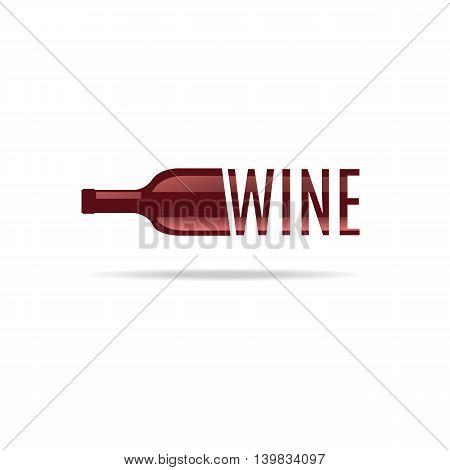 Bottle of wine. Icon and symbol. For the menu bar restaurant wine list. minimal. Vector illustration.