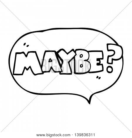maybe freehand drawn speech bubble cartoon symbol