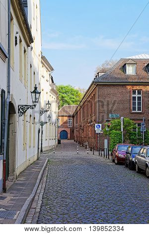 Street In The Old City Center In Dusseldorf In Germany