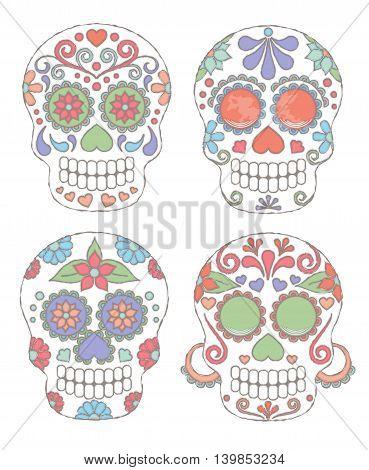 Watercolor Skulls2.eps