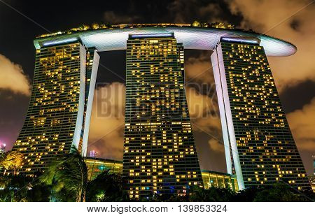 Marina Bay Sands Hotel And Casino At Downtown Core
