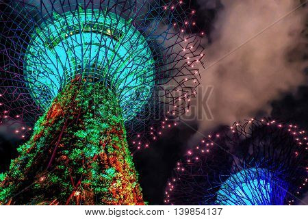 Supertree Grove At The Gardens By The Bay Of Singapore