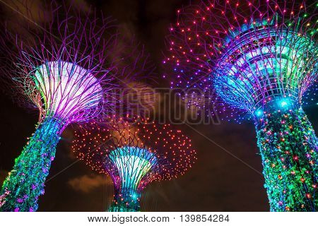Supertrees Grove In Gardens By The Bay In Singapore