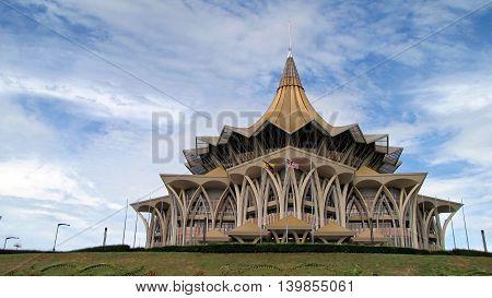 House of Parlement, Kuching, State of Sarawak, Borneo Malaysia. (09-11-2012)