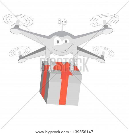fun drone with gif. Series cartoon Drones