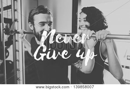 Never Give Up Opportunity Restart Challenge Concept