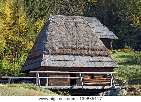 Ancient Hut With Watermill