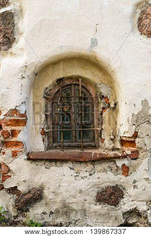 Window With Lattice In Old Building