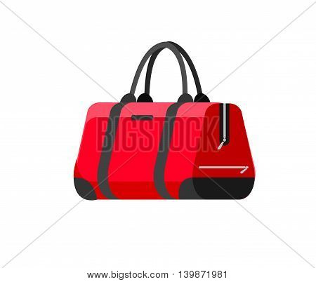 Travel bag isolated on white background. Vector Illustration