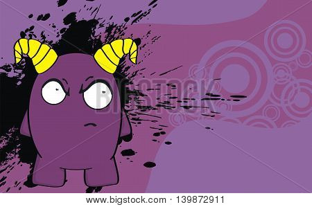 funny demon cartoon background in vector format very easy to edit