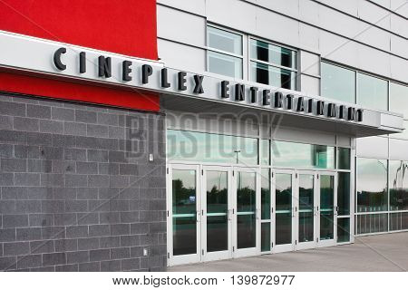 DARTMOUTH CANADA - JULY 24 2016: Cineplex Inc. is a Canadian entertainment company operating movie theatres and other businesses. Cineplex has approximately 162 theatres across Canada.