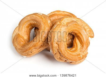 Cake rings isolated on white background