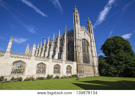 A beautiful view of King's College Chapel in Cambridge UK.