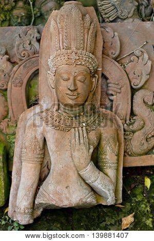 old stone buddha hand