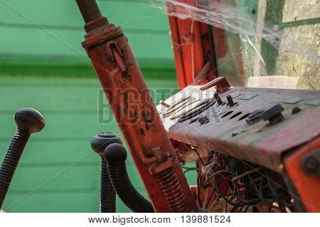 Old Red Metal Dasboard