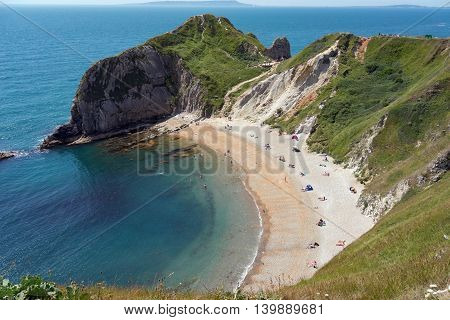 Man O' War beach on the UK's Jurassic coast, Dorset