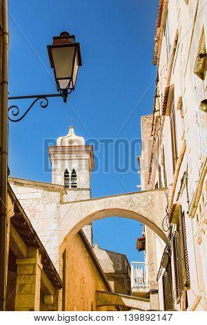Sainte-Marie-Majeure church in Bonifacio - PicturesqueCapital of Corsica France