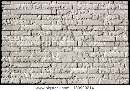 Wall Made Of White Marble With Cleavage Brick