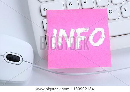 Info Information Message News Announcement Announce Office