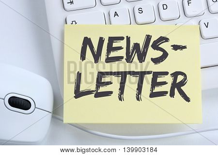 Newsletter Subscribing On Internet For Business Marketing Campaign Office