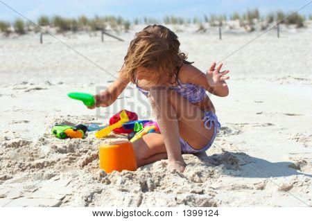 Little Girl At The Beach