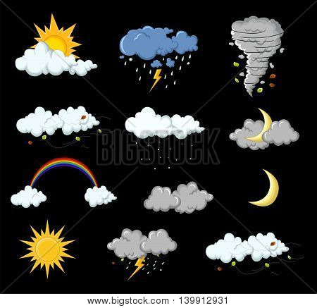 collection of weather cartoon for you design