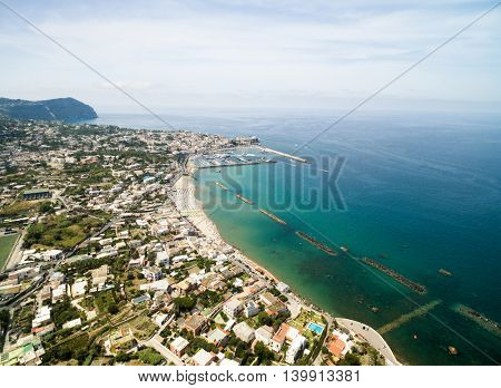 Aerial View of Ischia Island, Italy