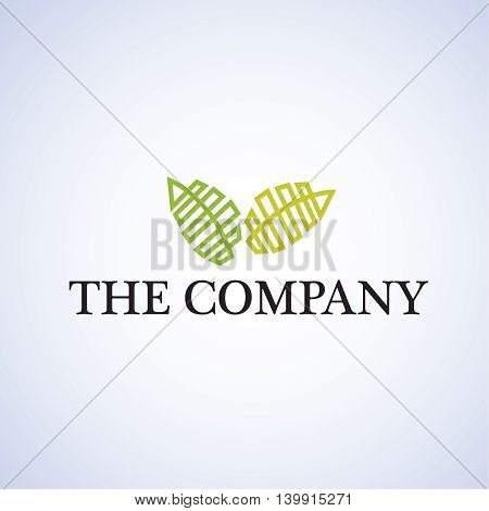 leaf  logo ideas design vector illustration on background