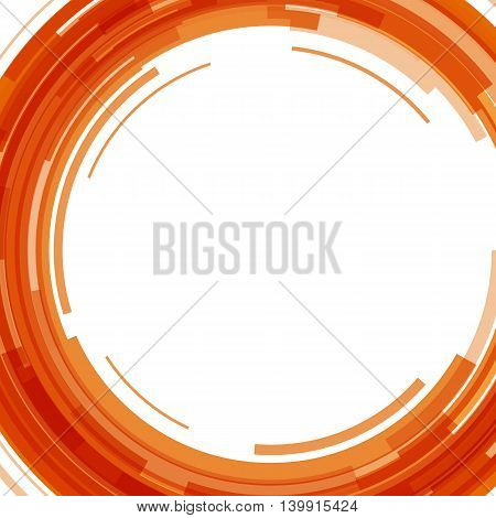 Abstract orange technology circles background, stock vector