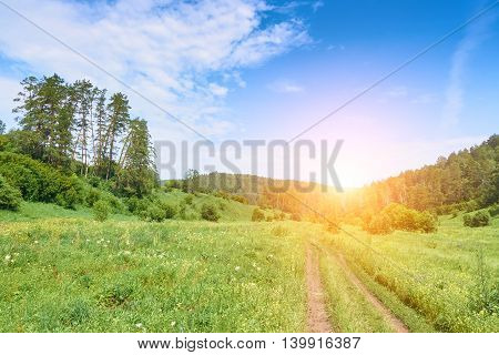 Beautiful Landscape Of A Summer Day In The  Reserve Samarskaya Luka