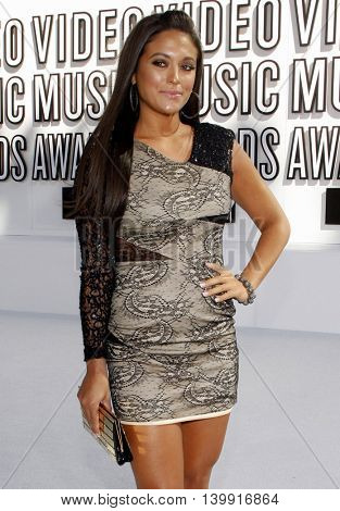 Sammi Giancola at the 2010 MTV Video Music Awards held at the Nokia Theatre L.A. Live in Los Angeles, USA on September 12, 2010.