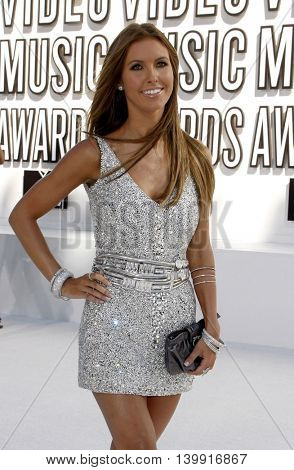 Audrina Patridge at the 2010 MTV Video Music Awards held at the Nokia Theatre L.A. Live in Los Angeles, USA on September 12, 2010.
