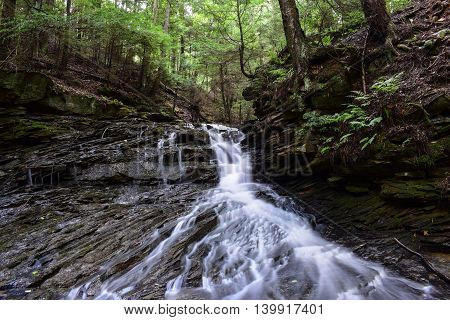 A small waterfall in the Appalachian Mountains.