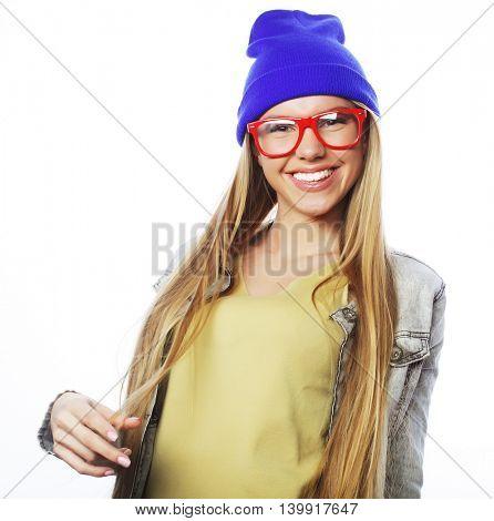 stylish beautiful young woman model