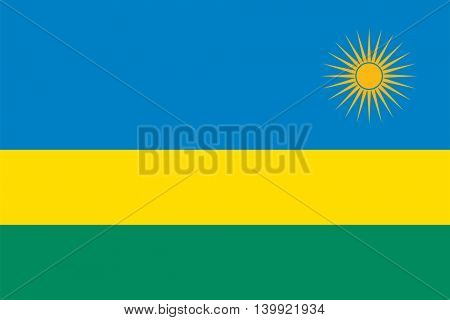 Vector Republic of Rwanda flag