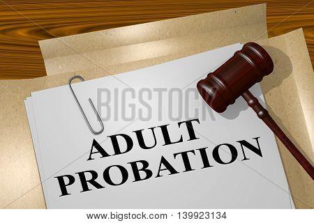 Adult Probation - Legal Concept