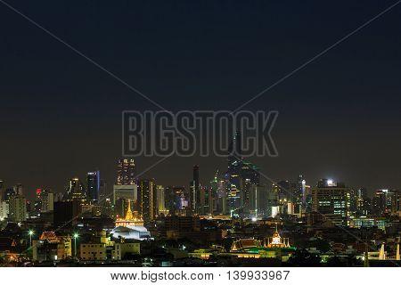 Night Scene Of Golden Mount