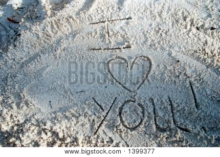 I Love You In The Sand