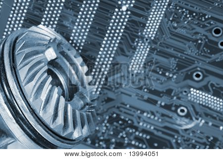 circuitboard and gears