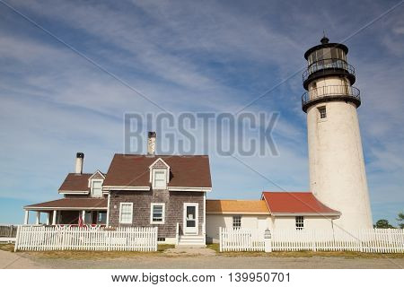 The Highland Light (previously known as Cape Cod Light) is an active lighthouse on the Cape Cod National Seashore in North Truro Massachusetts.