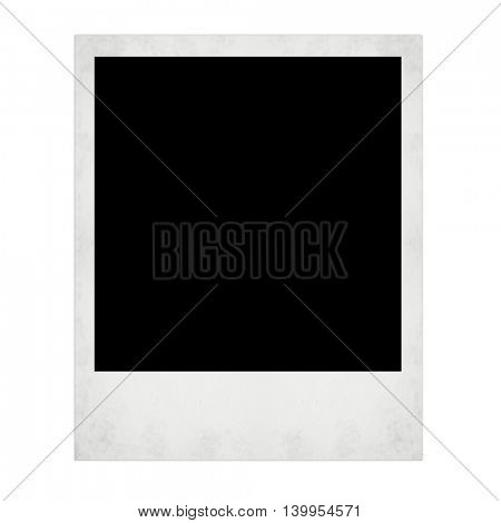photo card isolated on the white backgrounds