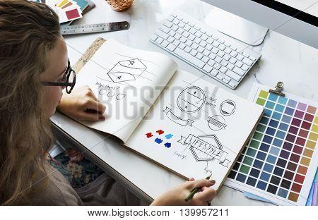 Art Design Drawing Badge Logo Concept