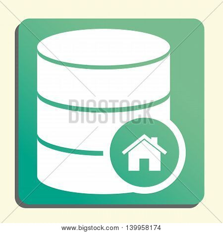 Database Home Icon In Vector Format. Premium Quality Database Home Symbol. Web Graphic Database Home