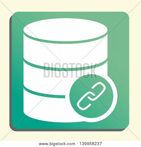 Database Link Icon In Vector Format. Premium Quality Database Link Symbol. Web Graphic Database Link